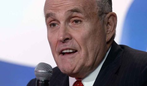 Former New York City Mayor Rudy Giuliani speaks at the 11th annual Values Voter Summit on Friday, Sept. 9, 2016 in Washington, D.C. (Olivier Douliery/Abaca Press/TNS)