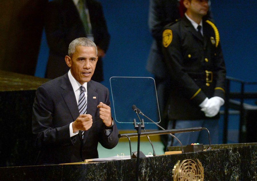 U.S. President Barack Obama delivers his address on Tuesday, Sept. 20, 2016 during the 71st session of the United Nations General Assembly at United Nations headquarters in New York City, N.Y. (Dennis Van Tine/Abaca Press/TNS)