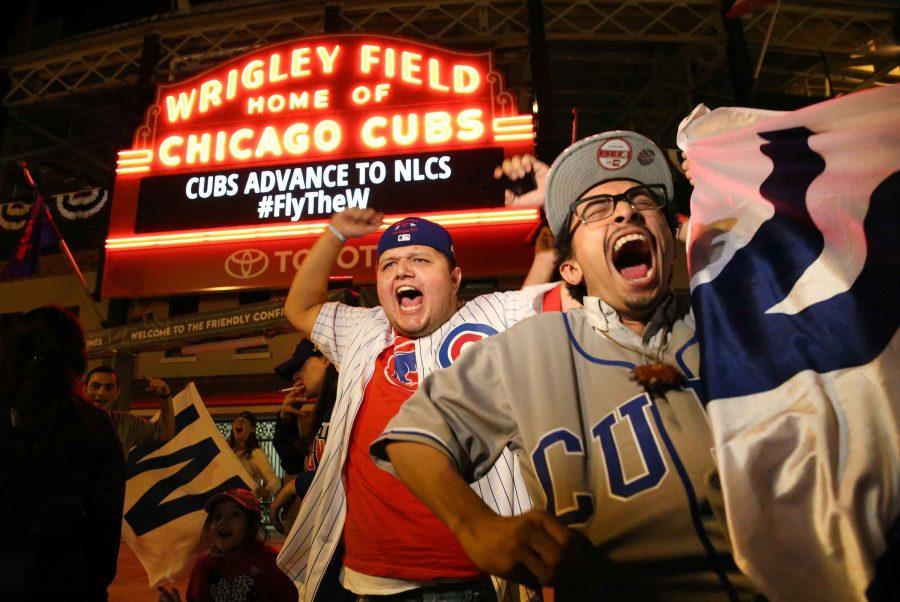 Chicago+Cubs+fans+gather+outside+Wrigley+Field+to+celebrate+the+Cubs+clinching+game+4+of+the+NLDS+series+over+the+San+Francisco+Giants.+on+Tuesday%2C+Oct.+11%2C+2016+in+Chicago.+%28Nuccio+DiNuzzo%2FChicago+Tribune%2FTNS%29