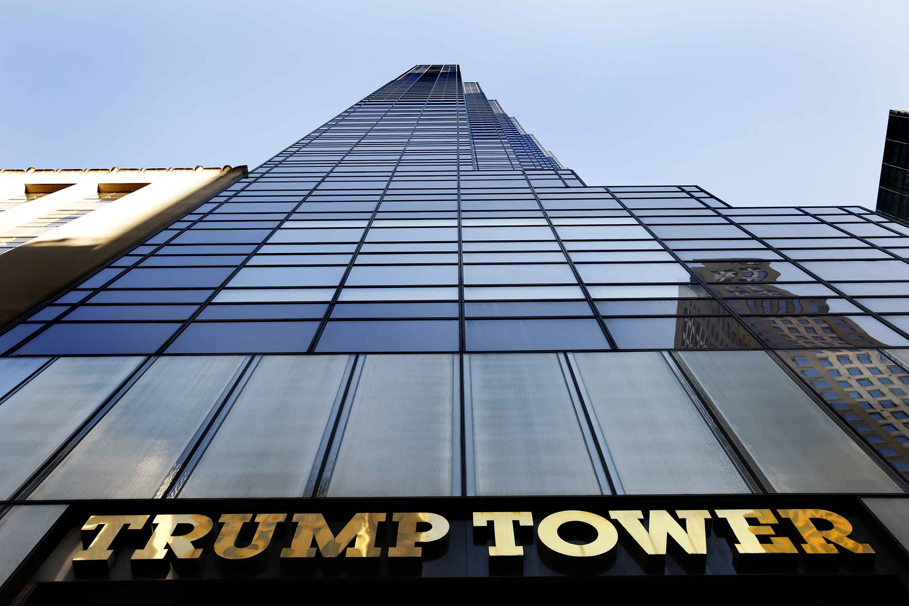 Donald Trump's name is on the Manhattan building at 725 5th Ave., New York, in an August 2014 file image (Carolyn Cole/Los Angeles Times/TNS)