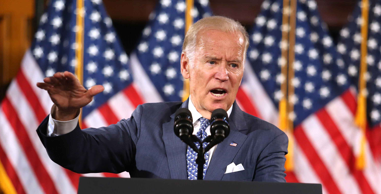 Vice President Joe Biden delivers remarks on Monday, Oct. 3, 2016 as he rallies supporters for Hillary Clinton in Orlando, Fla. (Joe Burbank/Orlando Sentinel/TNS)