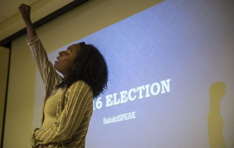 SIU student poets perform at election-focused slam poetry event