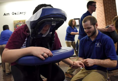 Photo of the Day: Giving out massages
