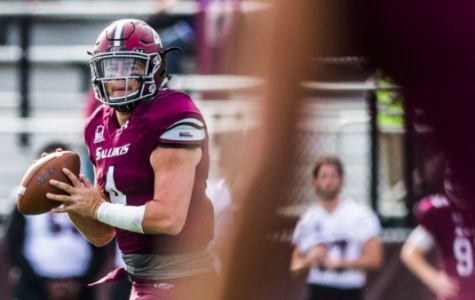 SIU football trailing Youngstown State at half