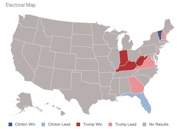 State-by-state map of presidential election results