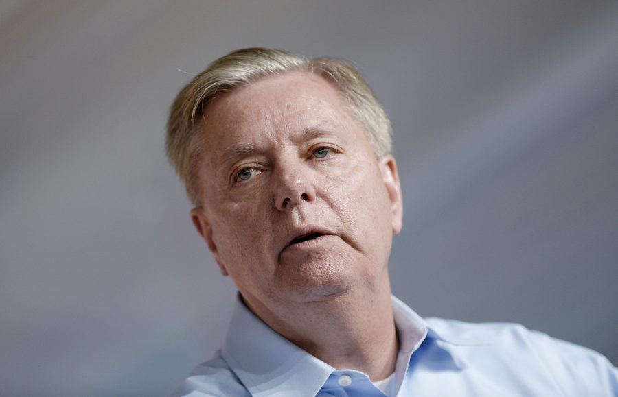 Sen. Lindsey Graham speaks at the Aspen Ideas Festival in Aspen, Colo., on June 29, 2015. (Olivier Douliery/Abaca Press/TNS)