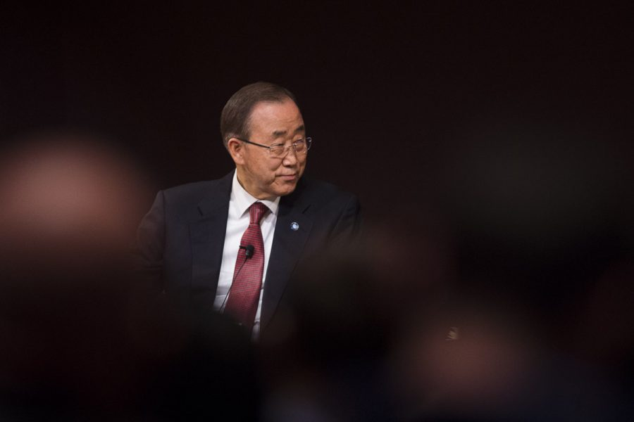 United+Nations+Secretary-General+Ban+Ki-moon+answers+an+audience+question+after+delivering+his+final+public+lecture+while+in+office+Wednesday%2C+Dec.+21%2C+2016%2C+at+the+Student+Center.+%28Ryan+Michalesko+%7C+%40photosbylesko%29