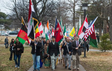 International Festival begins with Parade of Flags