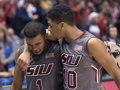 Gallery: SIU men's basketball falls to Illinois State in the MVC tournament semifinals