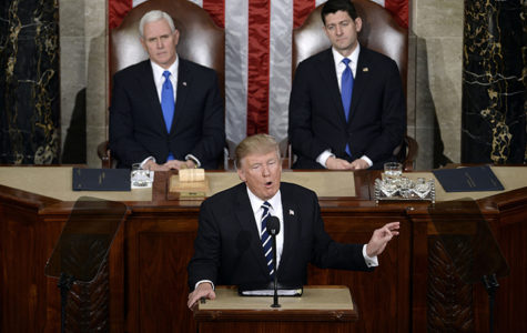 U.S. President Donald J. Trump delivers his first address to a joint session of Congress on Tuesday, Feb. 28, 2017 at the Capitol in Washington, D.C.
