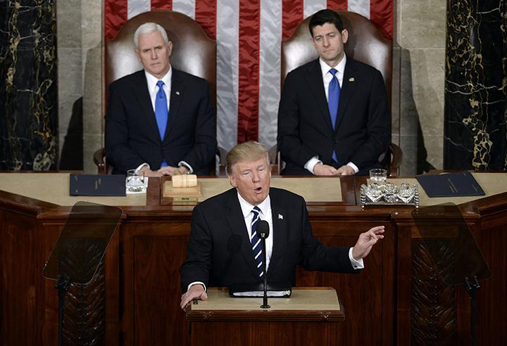 U.S.+President+Donald+J.+Trump+delivers+his+first+address+to+a+joint+session+of+Congress+on+Tuesday%2C+Feb.+28%2C+2017+at+the+Capitol+in+Washington%2C+D.C.+