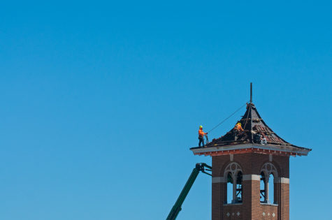 Photo of the Day: Band-Aid on the bell tower