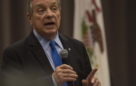 Sen. Durbin holds town hall at Lesar Law Building