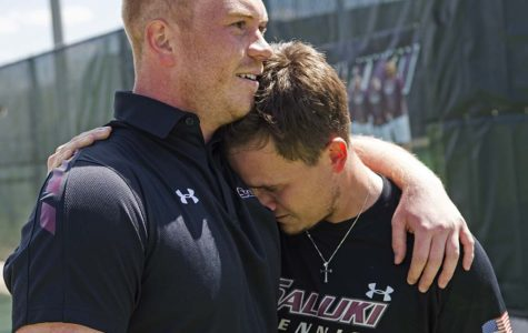SIU men's tennis wins 'emotional' final home match in program history