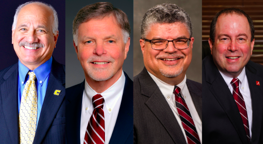 From left to right: Jeff Elwell, George Hynd, Brad Colwell and Carl Pinkert. (Provided photos)