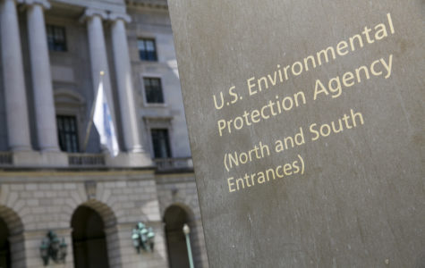 A logo sign outside of the headquarters of the United States Environmental Protection Agency on April 2, 2017 in downtown Washington, D.C. (Kristoffer Tripplaar/Sipa USA/TNS)