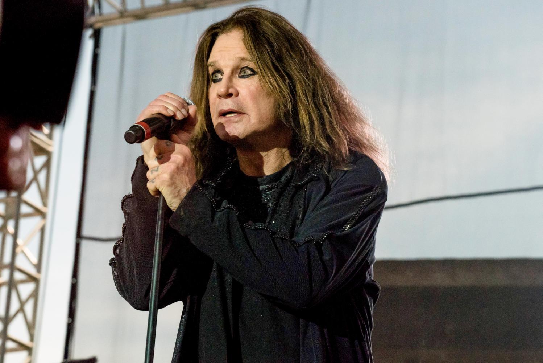 Ozzy Osbourne sings