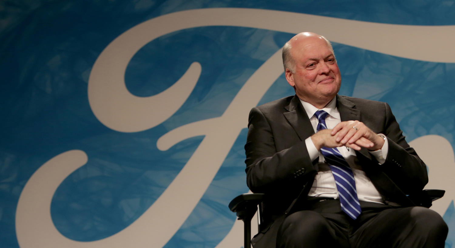 Ford Motor Company President and CEO, Jim Hackett, on Monday, May 22, 2017 at the Ford Motor Company World Headquarters in Dearborn, Mich. Ford said Wednesday it earned a profit of $2 billion during the second quarter. (Elaine Cromie/Detroit Free Press/TNS)