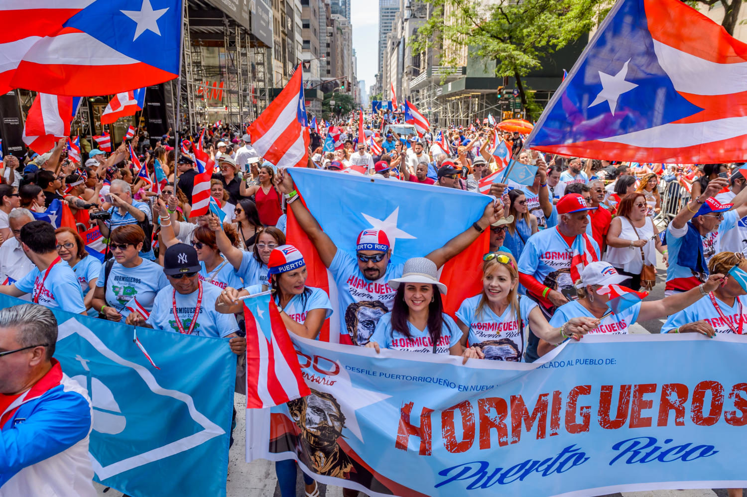 The National Puerto Rican Day Parade on June 11, 2017 in New York. Puerto Rico is pressing its quest for statehood. (Erik McGregor/Sipa USA/TNS)