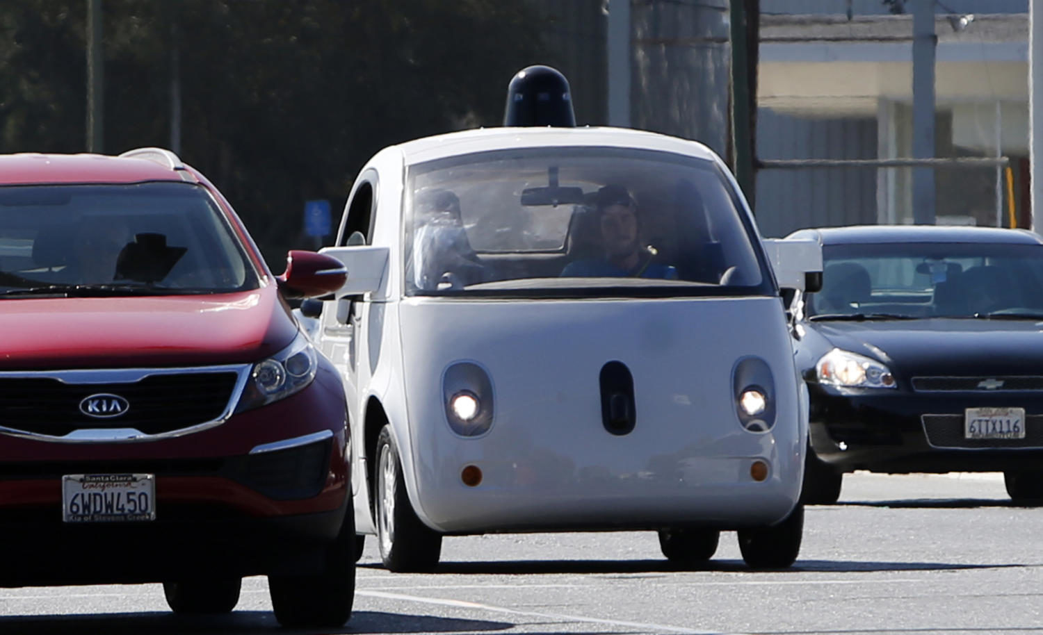 Driverless cars of the future confront regulations written