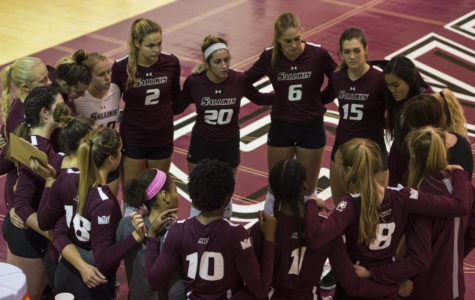 SIU volleyball falls to Indiana State in four set thriller