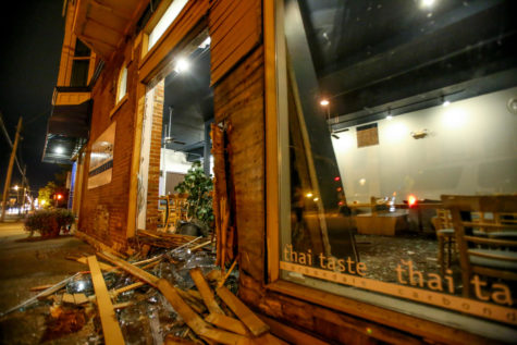 Car crashes into Thai Taste, injuring one person