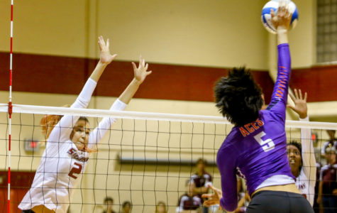 Salukis suffer another conference loss, swept 3-0 by Purple Aces
