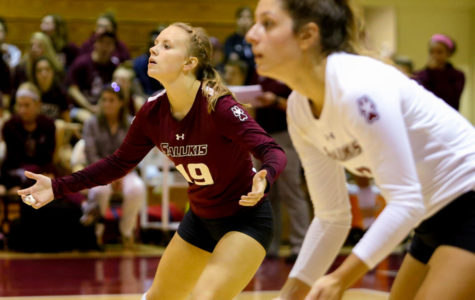 SIU volleyball loses third straight conference match against Northern Iowa