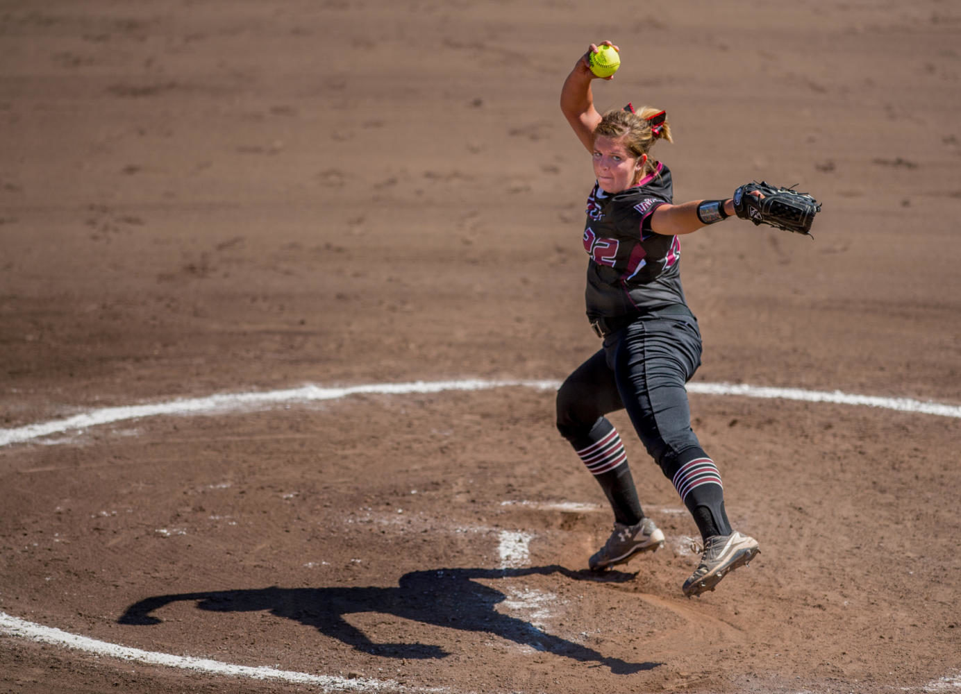 SIU junior pitcher Brianna Jones winds up the ball Sunday, Sept. 10, 2017, during the Salukis' second game of the season against John A. Logan College at Brechtelsbauer Field. (Brian Muñoz | @BrianMMunoz)