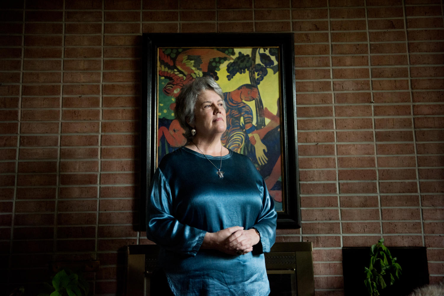 Political science professor Virginia Tilley, of Gainesville, Florida, poses for a portrait Friday, Sept. 22, 2017 at her home in Carbondale. Tilley specializes in comparative and international politics of ethnic and racial conflict.Tilley was recently subject of controversy for a report  she co-wrote with Richard Faulk accusing Israel of apartheid, which was released and subsequently retracted in March 2017 by the United Nations Economic and Social Commission for Western Asia. (Brian Muñoz | @BrianMMunoz)
