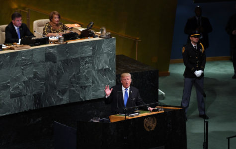 President Donald Trump addresses world leaders at the UN General Assembly in New York on Sept. 19, 2017. (Olivier Douliery/Abaca Press/TNS)