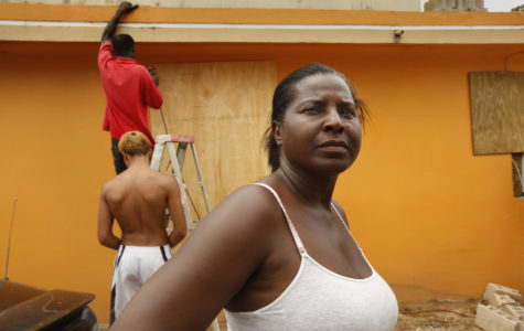 Residents of Loiza, Puerto Rico, such as Monica Pisarro, are anticipating a direct hit from Hurricane Maria, on Tuesday, Sept. 19, 2017. The hurricane is expected to pass over the island on Wednesday. (Carolyn Cole/Los Angeles Times/TNS)