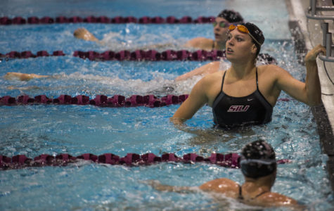 SIU swim & dive wins first event of the season against Evansville