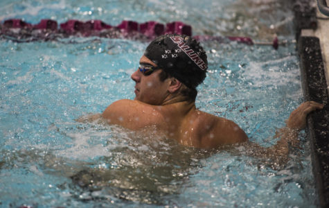 SIU swim and dive team holds social meet with Lindenwood Lions