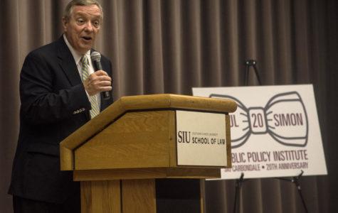 Durbin discusses Paul Simon's legacy at keynote address Tuesday