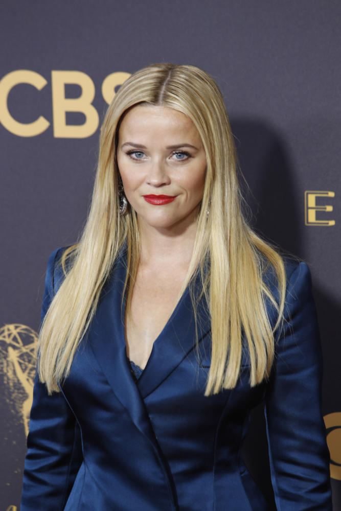 Reese Witherspoon arrives at the 69th Primetime Emmy Awards at the Microsoft Theater in Los Angeles on Sunday, Sept. 17, 2017. (Kirk McKoy/Los Angeles Times/TNS)