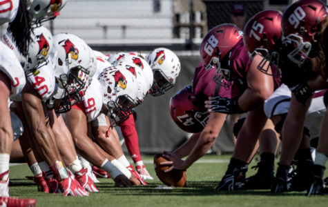 Salukis ruffle Redbirds' feathers with 42-7 Homecoming win