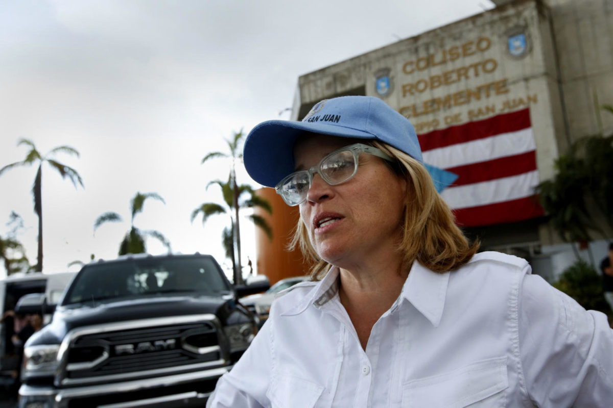 San Juan mayor Carmen Yulin Cruz, shown on Oct. 2, 2017, believes this is not the time for politics, including the discussion of statehood for Puerto Rico. She says all should come together to try to help the island recover. The debate over whether or not Puerto Rico should be given statehood has surfaced again with the attention hurricane Maria brought to the island.  (Carolyn Cole/Los Angeles Times/TNS)