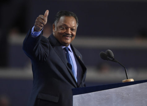 Rev. Jesse Jackson speaks on the third day of the Democratic National Convention at the Wells Fargo Center in Philadelphia on Wednesday, July 27, 2016. A journalist has accused Jackson of sexual harassment. (Clem Murray/Philadelphia Inquirer/TNS)