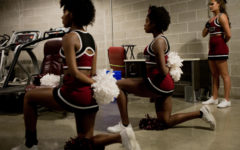 SIU cheerleaders say they are being hidden during national anthem due to kneeling protests