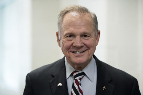 GOP candidate for U.S. Senate Roy Moore speaks during a forum in Valley, Ala., on August 3, 2017. The former Chief Justice of the Alabama Supreme Court prevailed in the special election to fill the seat vacated by Attorney General Jeff Sessions. The gun-toting, Bible-quoting, conservative firebrand will likely shake up the Senate whether he can wave his firearm around or not. (Bill Clark/Congressional Quarterly/Newscom/Zuma Press/TNS)