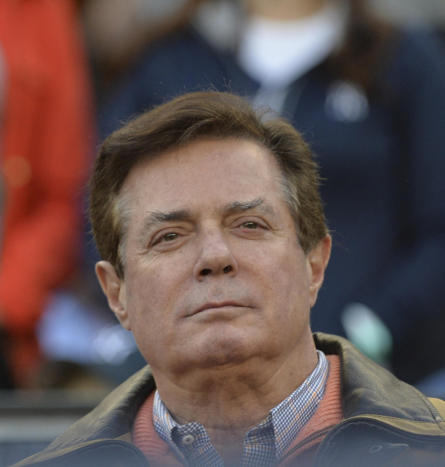 Paul Manafort on hand as the New York Yankees plays host to the Houston Astros in Game 4 of the American League Championship Series at Yankee Stadium in New York on Tuesday, Oct. 17, 2017. President Donald Trump's former campaign chairman, has surrendered to federal authorities, according to multiple reports. (Howard Simmons/New York Daily News/TNS)