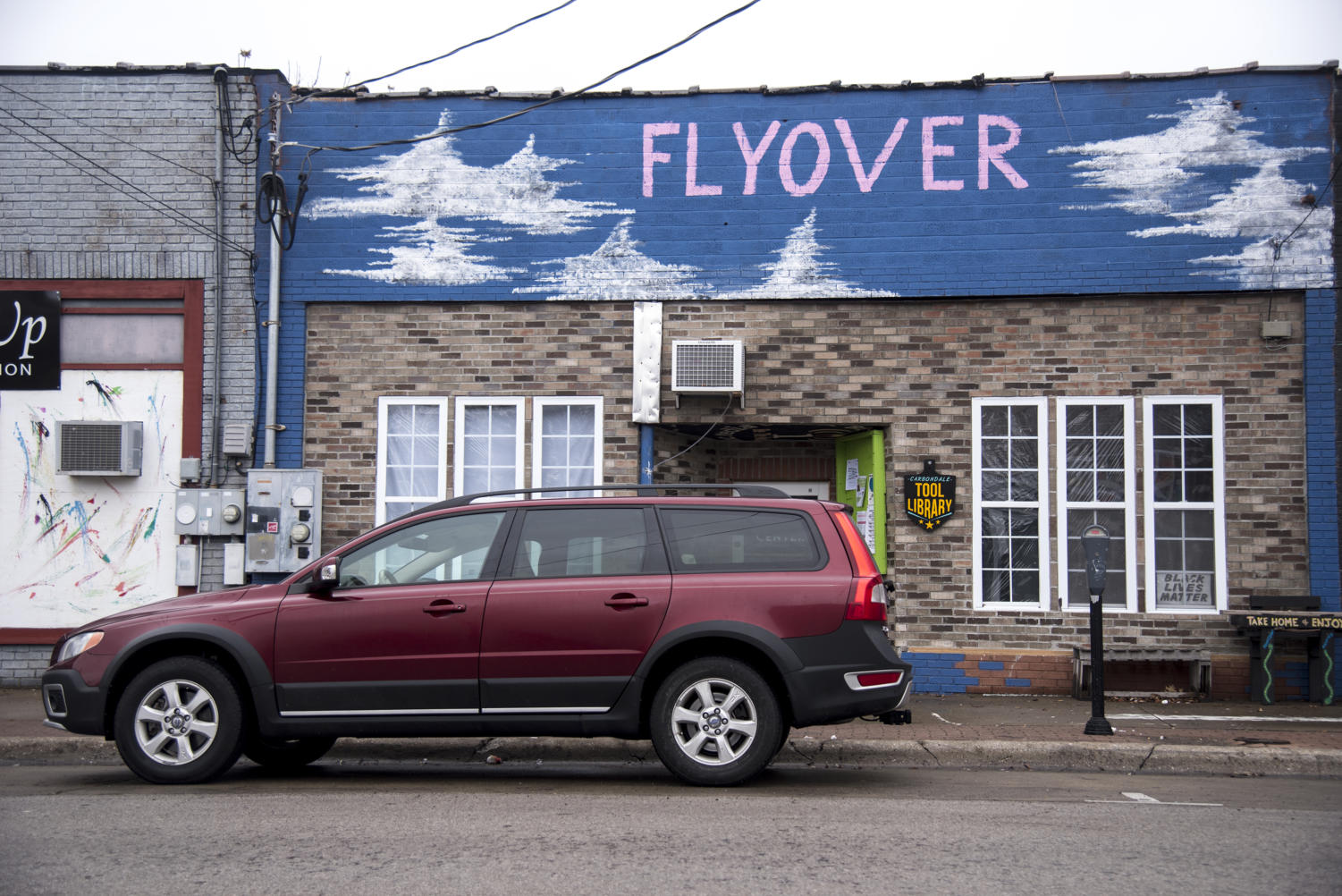 Flyover Social Center, Sunday, Jan. 21, 2018, in Carbondale, the center is a creative space for the community. (Mary Newman | @MaryNewmanDE)