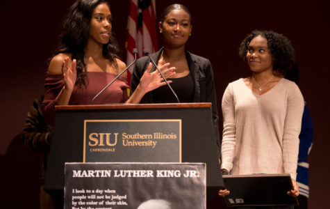 SIU Cheerleaders honored at MLK Breakfast
