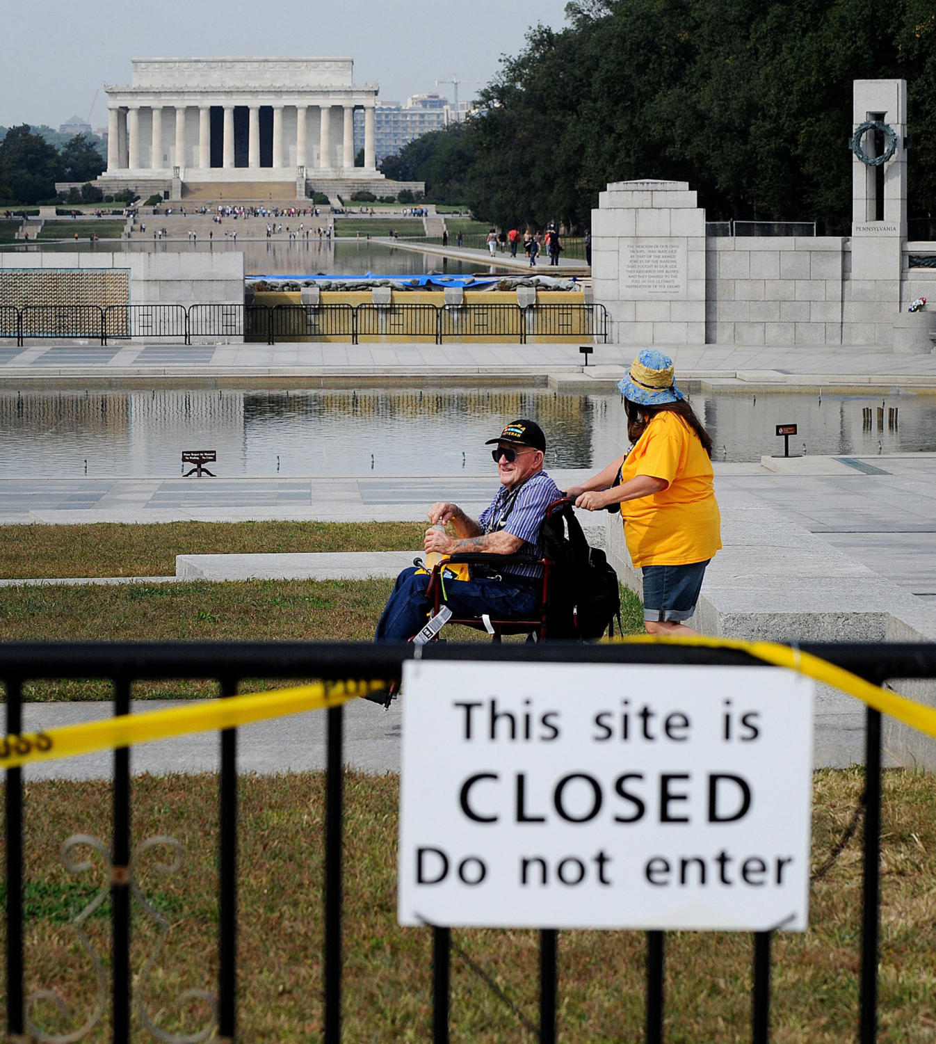 A file image from the government shutdown in 2013. If the government shuts down in the coming days, the Trump administration plans to keep many national parks and monuments open. (Olivier Douliery/Abaca Press/MCT)