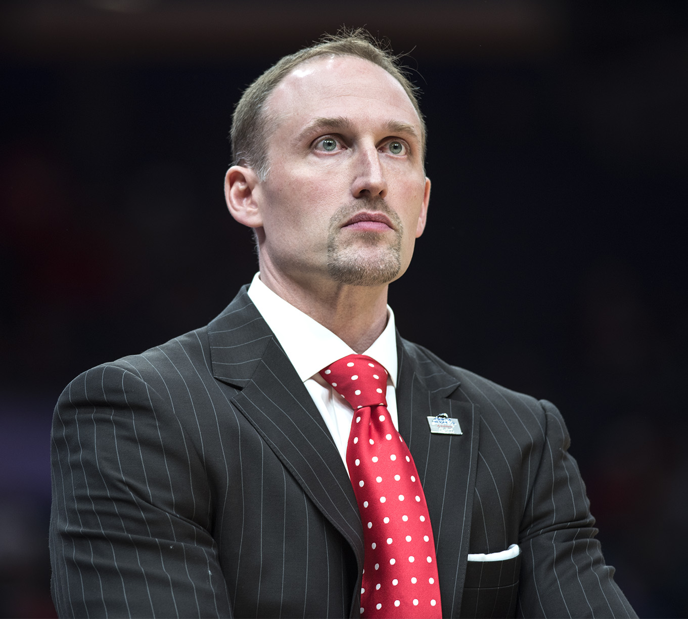 Illinois+State+coach+Dan+Muller+watches+a+play+Saturday+March+3%2C+2018+during+the+Salukis%E2%80%99+76-68+loss+against+the+Illinois+State+Redbirds+at+the+Missouri+Valley+Conference+%22Arch+Madness%22+tournament+in+St.+Louis.++%28Reagan+Gavin+%7C+%40RGavin_DE%29