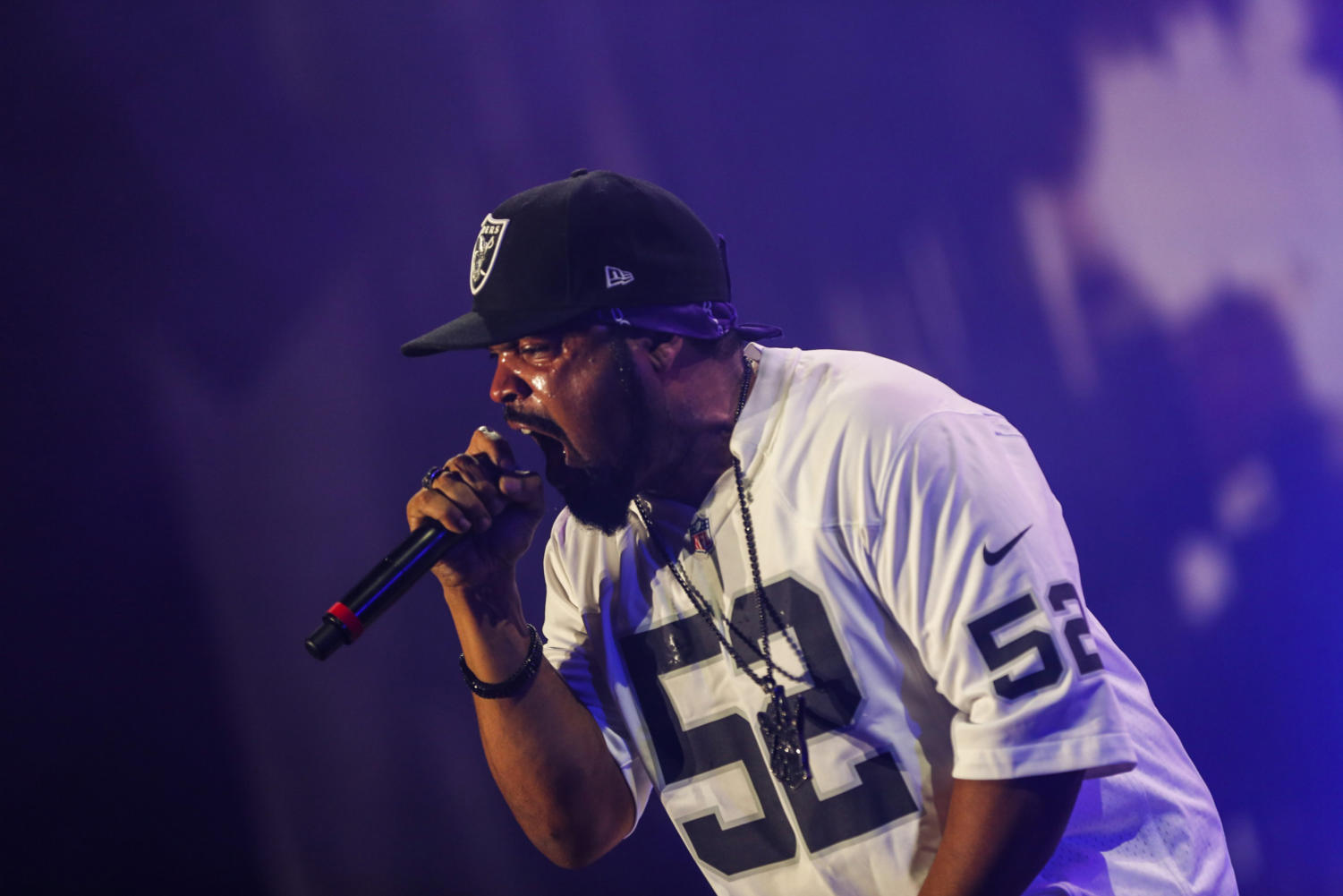 Ice Cube performs during the Coachella Valley Music and Arts Festival in Indio, Calif., on Saturday, April 23, 2016. Ice Cube's BIG3 basketball league is preparing for its debut in Brooklyn. (Jay L. Clendenin/Los Angeles Times/TNS)