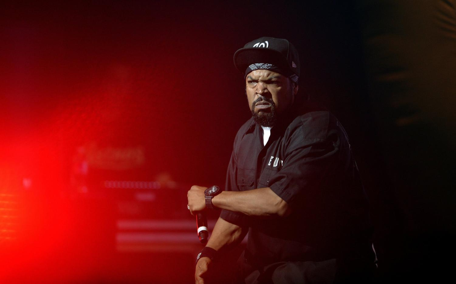 Ice Cube performs with Public Enemy during the Kings of the Mic Tour in Durham, North Carolina, Sunday, June 16, 2013. (Scott Sharpe/Raleigh News& Observer/MCT)