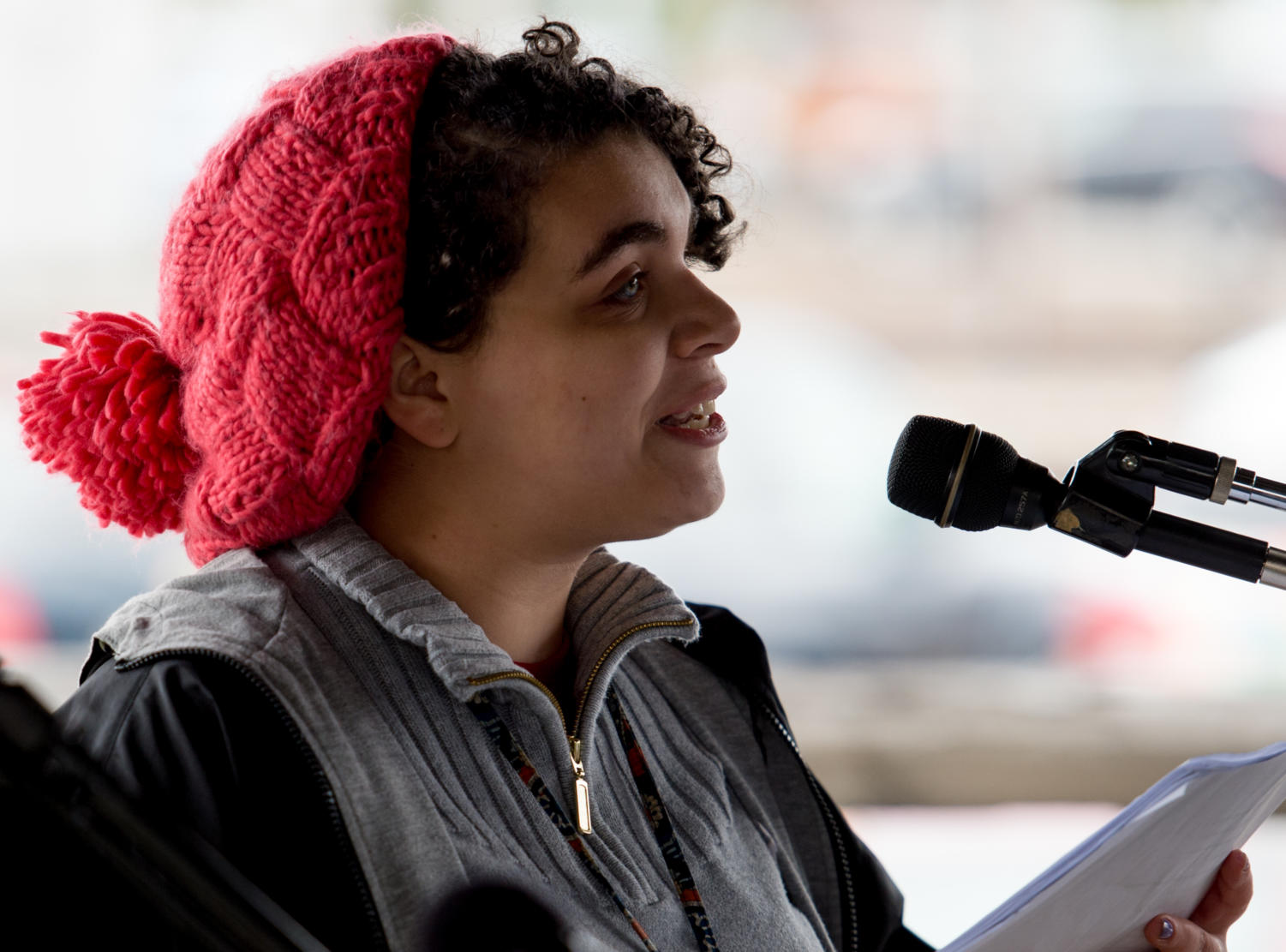 Alexis+Jones%2C+a+Carbondale+Community+High+School+student+and+event+organizer%2C+speaks+on+gun+legislation+Saturday%2C+March+24%2C+2018%2C+during+the+%22March+for+Our+Lives%22+demonstration+in+downtown+Carbondale.++%28Brian+Munoz+%7C+%40BrianMMunoz%29