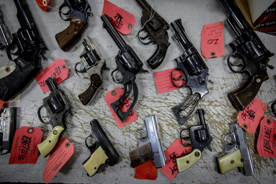 A new study finds that when domestic violence offenders must relinquish their guns instead of being barred from owning firearms, the risk that they will kill their partners goes down.  (Brian Cassella/Chicago Tribune/TNS)